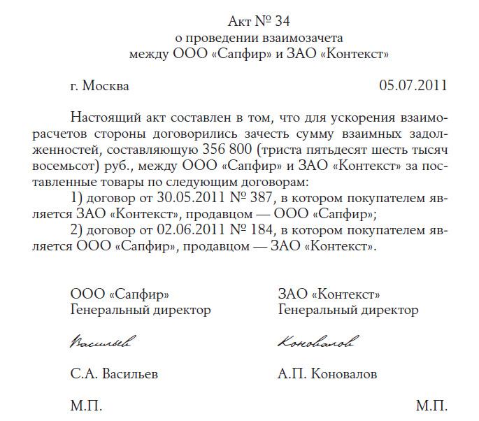 Образец Соглашение О Взаимозачете Денежных Средств - фото 5