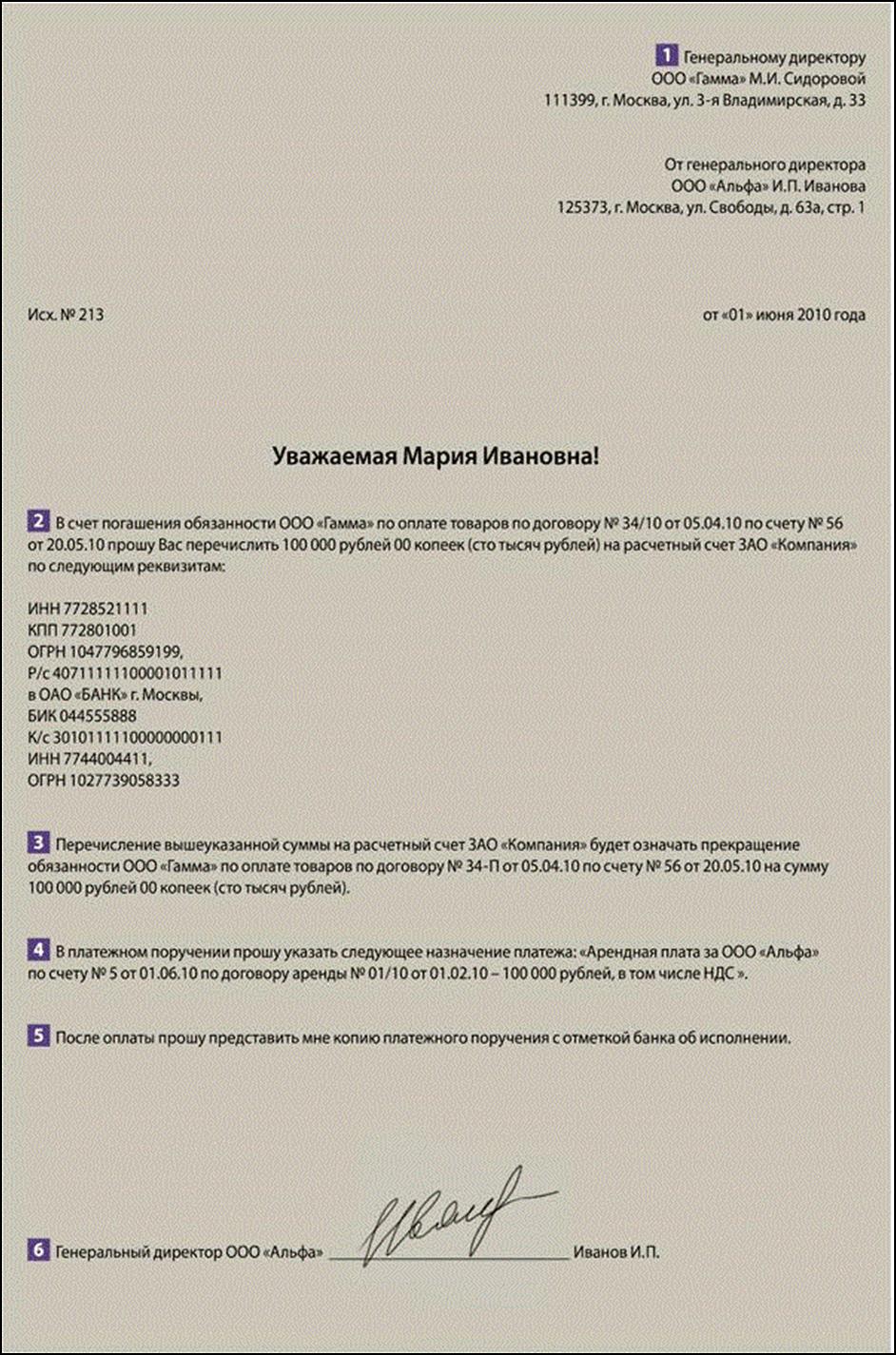 Оплата платежа по договору оказания услуг от третьего лица
