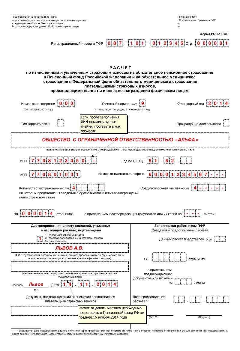 Скачать Бланк Отчета В Пфр За 1 Квартал 2015 1С