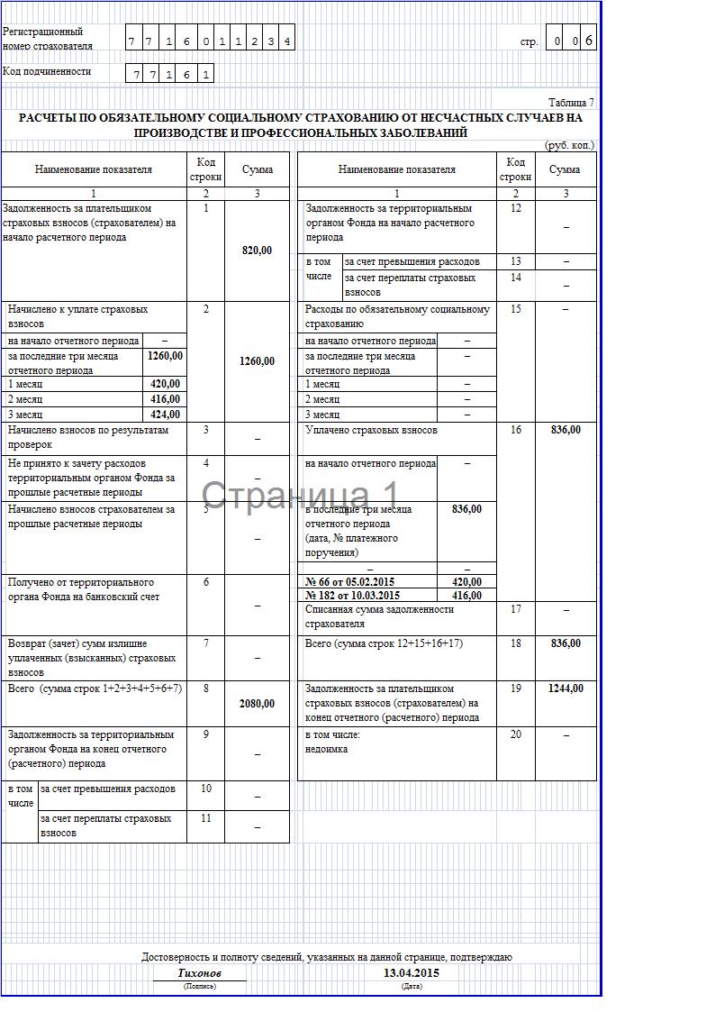 инструкция по заполнению фсс 4 таблица 1 строка 11