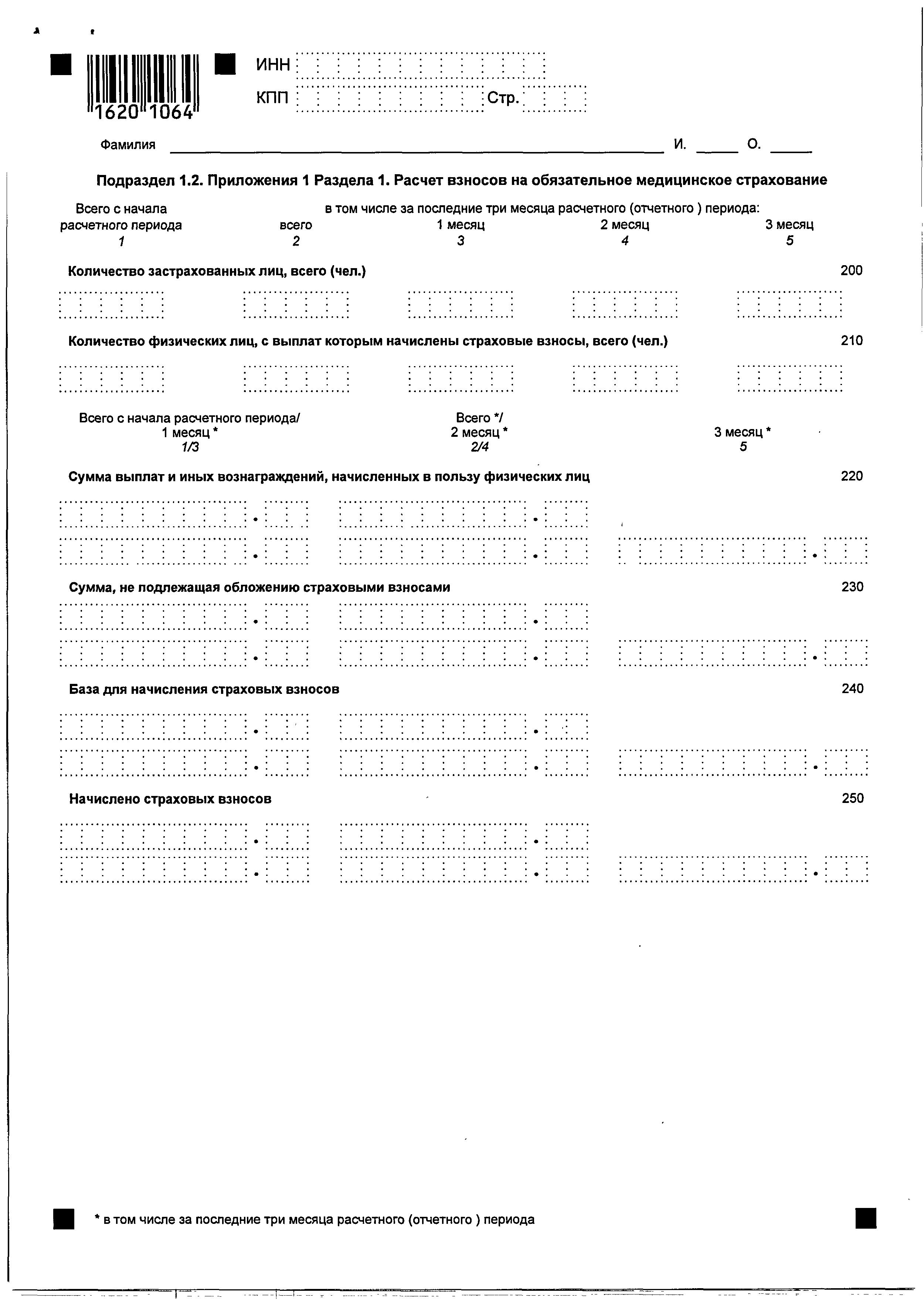 бланк расчета лимита по кассе