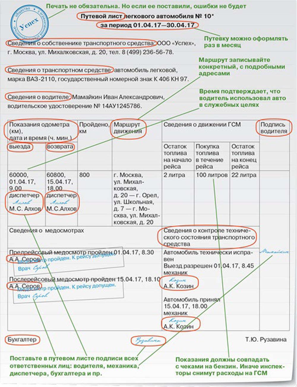 приказ минтранса 152 от 18.09.2008 путевой лист бланк