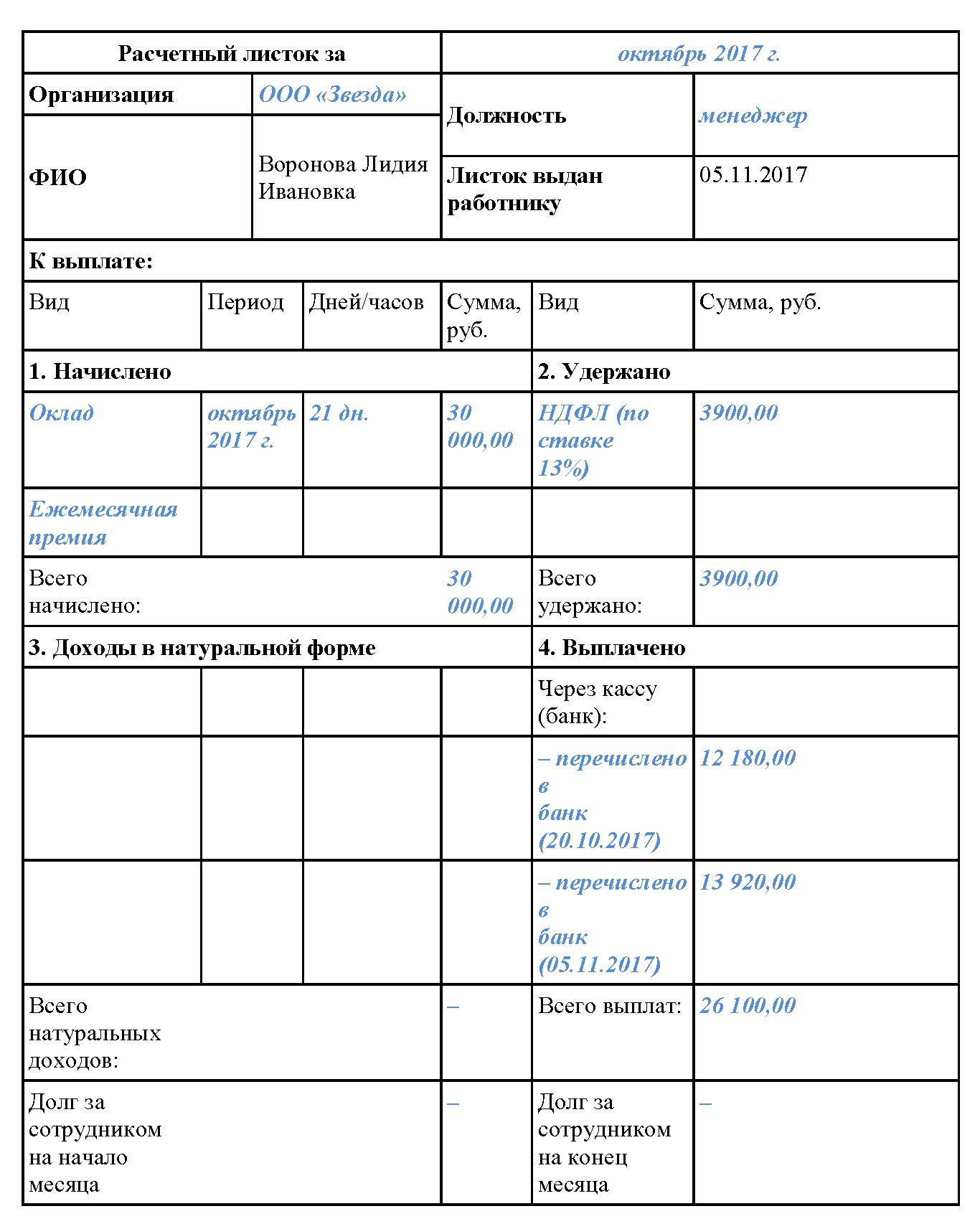 Какие документы оформляются при начислении зарплаты