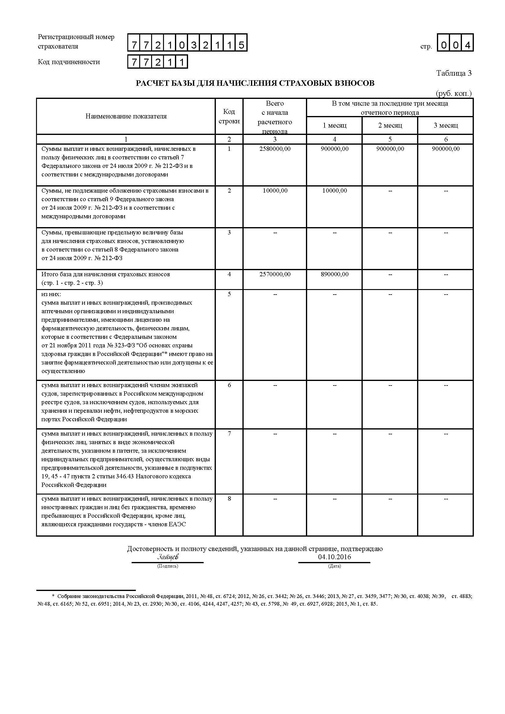 бланк формы 4 фсс за 9 мес 2014