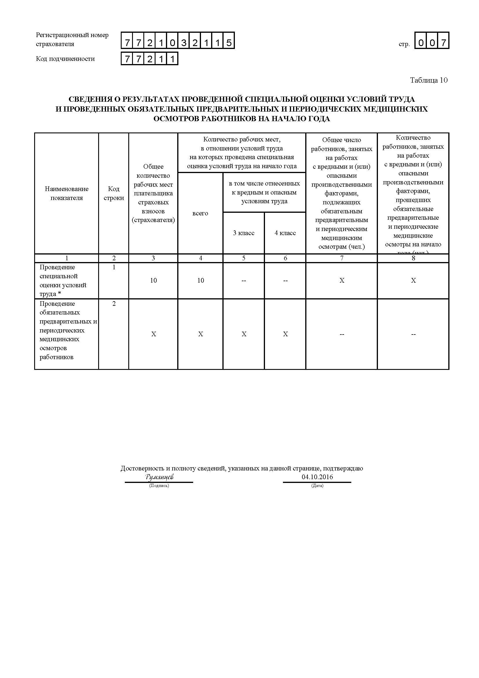 Образец заполнения 4 ФСС за 3 квартал 2016 года