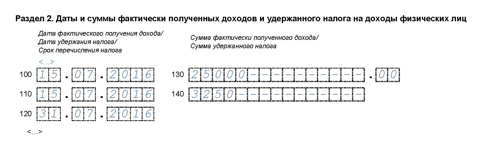 6-НДФЛ за 3 квартал 2016 года
